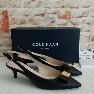 New Cole Haan Tali Bow Slingback Heels